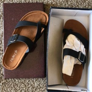 Refresh black sandals fit like an 8